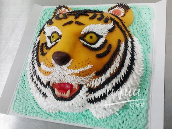 aqua烘焙坊 造型蛋糕 杏仁糕造型蛋糕-8吋-老虎